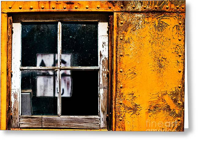 Reflection Of Light In The Midst Of Decay Greeting Card