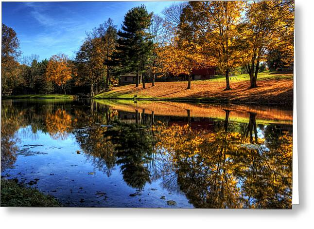 Reflection Of Northeast Ohio Fall Greeting Card