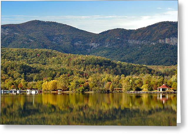 Reflection Of The Gorge Greeting Card by Donnie Smith