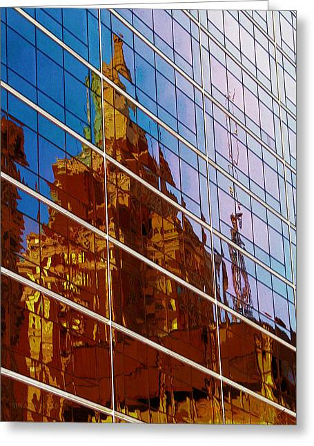 Reflection Of The Past - Tulsa Greeting Card
