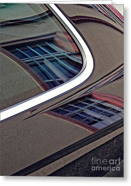 Reflection On A Parked Car 14 Greeting Card