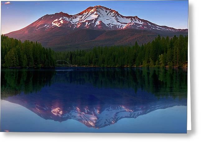 Reflection On California's Lake Siskiyou Greeting Card