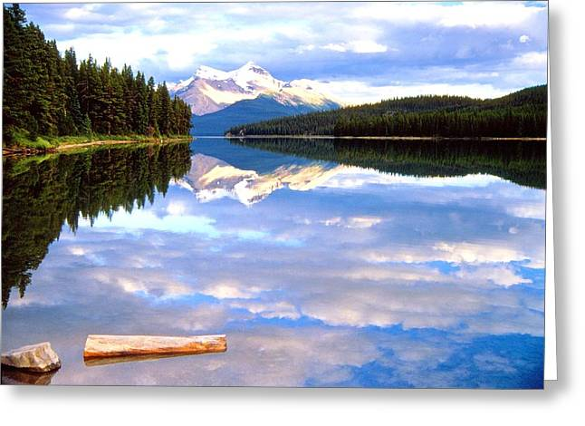 Reflection On Malign Lake Greeting Card