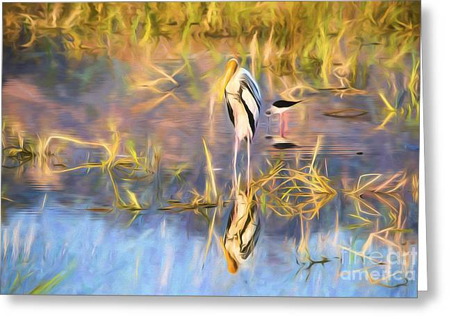 Reflection Greeting Card by Pravine Chester