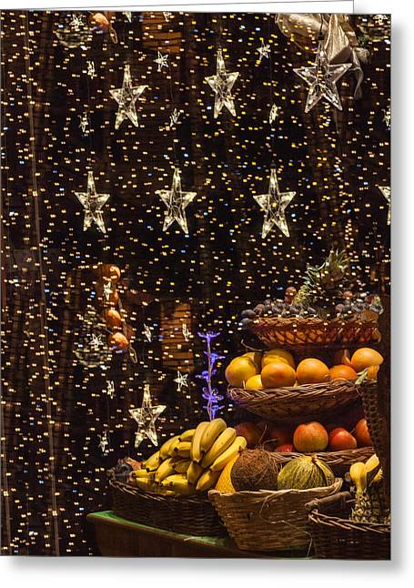 Reflection With Fruit Greeting Card
