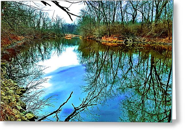 Reflections 5 Greeting Card by James Stoshak