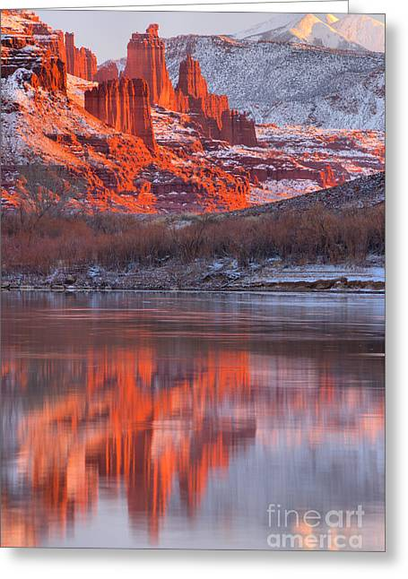 Reflections Along Highway 128 Greeting Card