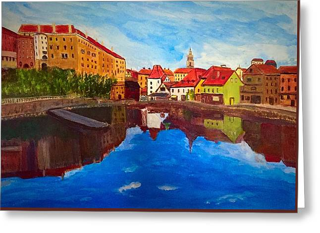 Czech Reflections Greeting Card
