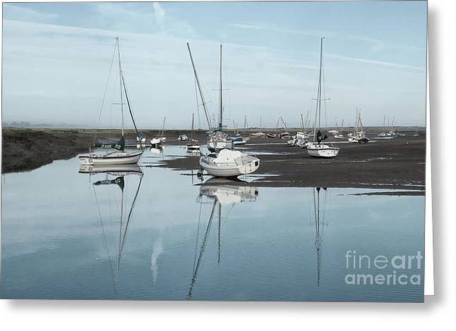 Reflections At Brancaster Staithe Norfolk Greeting Card