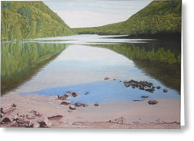 Reflections At Bubble Pond Greeting Card