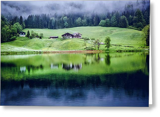 Reflections At Daybreak Greeting Card by Markus Spiske