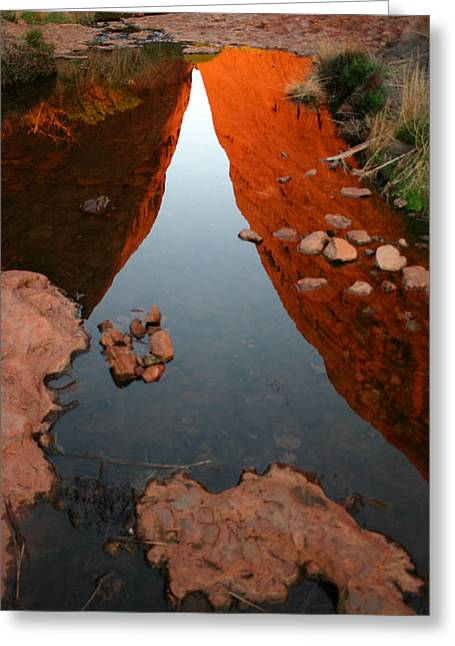 Greeting Card featuring the photograph Reflections At Kata Tjuta In The Northern Territory by Keiran Lusk