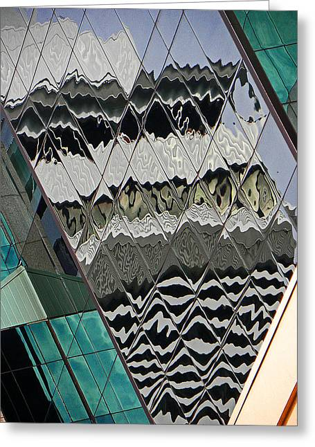 Reflections At Niagara Greeting Card by Elizabeth Hoskinson