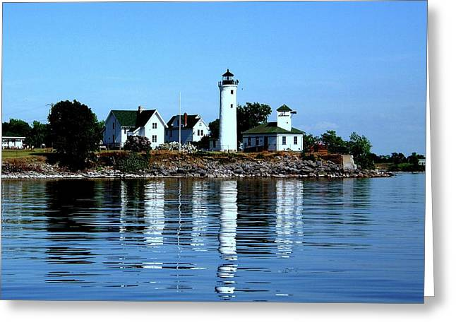 Reflections At Tibbetts Point Lighthouse Greeting Card