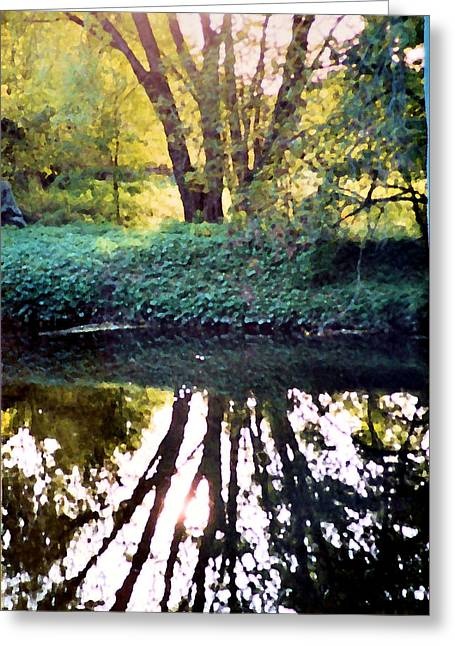 Reflections At Wyeth Greeting Card by Ellen Lerner ODonnell
