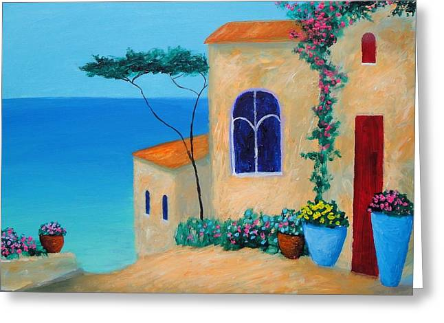 Larry Cirigliano Greeting Cards - Reflections by the Sea Greeting Card by Larry Cirigliano