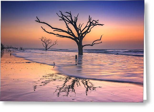 Reflections Erased - Botany Bay Greeting Card by Rick Berk