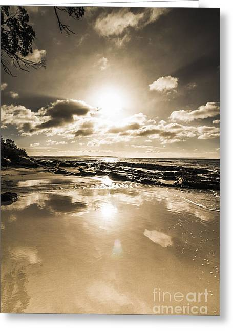 Reflections From Adventure Bay Greeting Card by Jorgo Photography - Wall Art Gallery