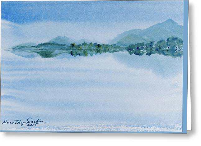 Reflection Of Mt Rugby In Bathurst Harbour Greeting Card