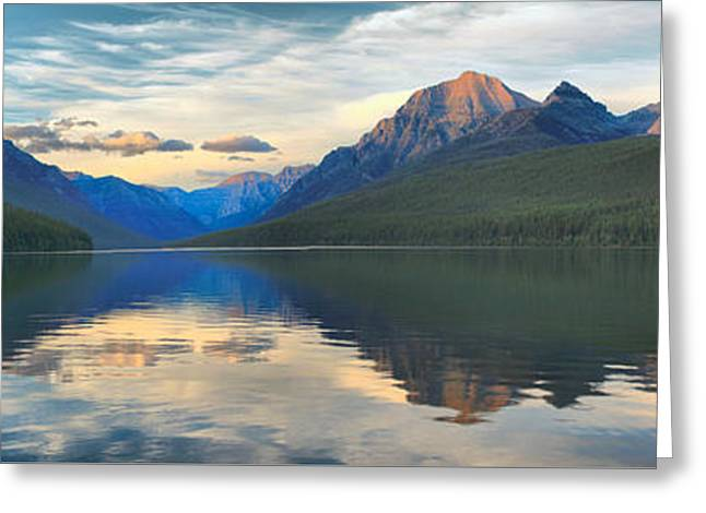 Reflections In Bowman Lake Greeting Card