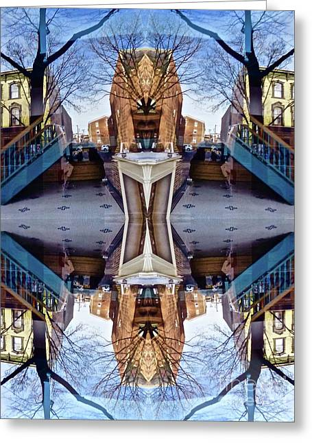 Reflections In Frederick, Maryland Greeting Card