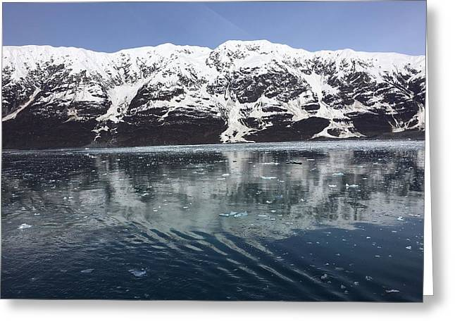 Reflections In Icy Point Alaska Greeting Card