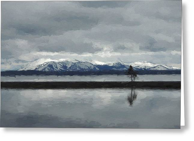 Reflections In Lake Yellowstone Greeting Card
