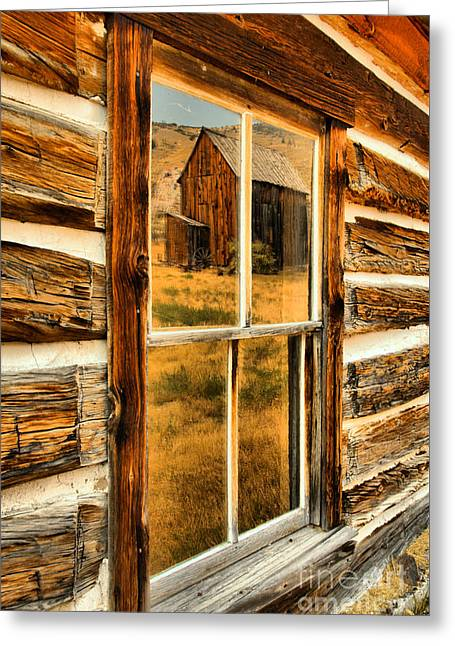 Reflections In Montana Gold Mining History Greeting Card