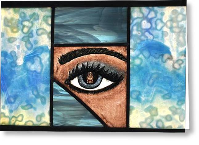 Reflection Glass Greeting Cards - Reflections in Ones Eye Greeting Card by Valerie Lynn