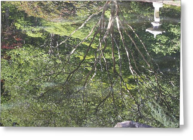 Reflections In The Japanese Gardens Greeting Card