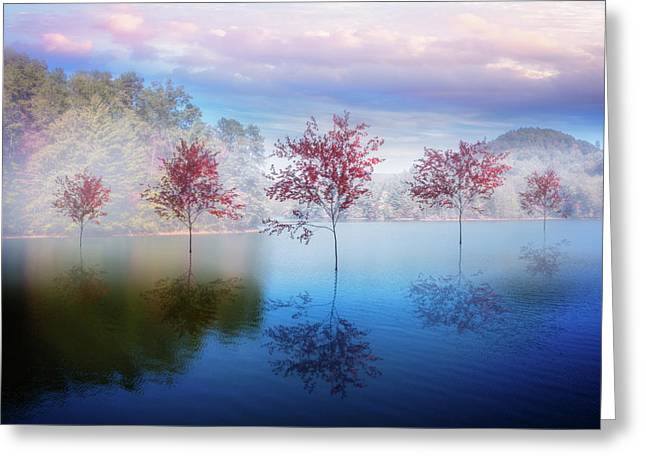 Reflections In The Lake Greeting Card