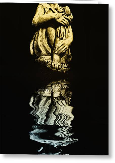 Reflections In The Moonlight Greeting Card by Bill Cannon