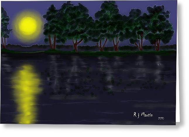 Reflections In The Moonlight Greeting Card