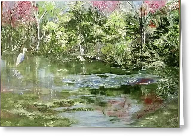 Reflections Greeting Card by Jacqueline Whitcomb