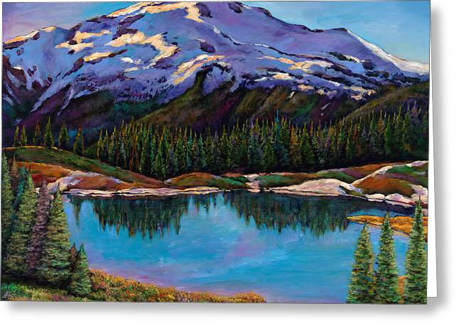 Rocky Mountains Greeting Cards - Reflections Greeting Card by Johnathan Harris