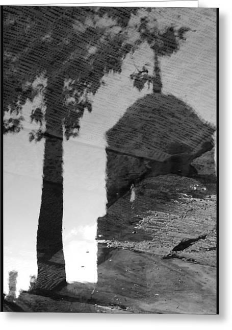 Reflections Greeting Card by Julia Bridget Hayes