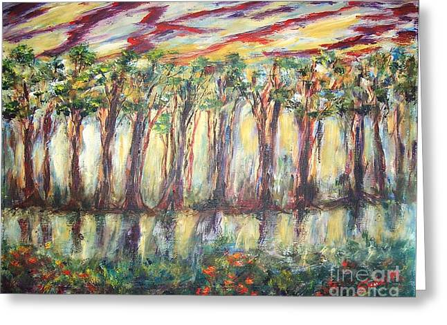 Reflections Greeting Card by Mary Sedici