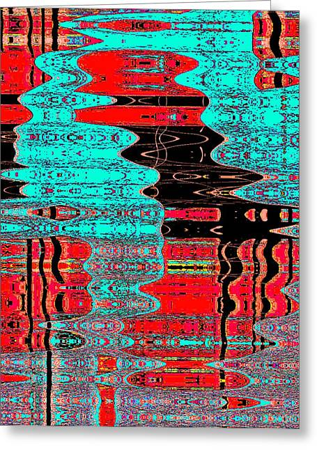 Reflections Number 1 Greeting Card by Teodoro De La Santa