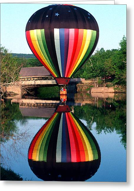 Reflections Of A Balloonist Greeting Card by Jim DeLillo
