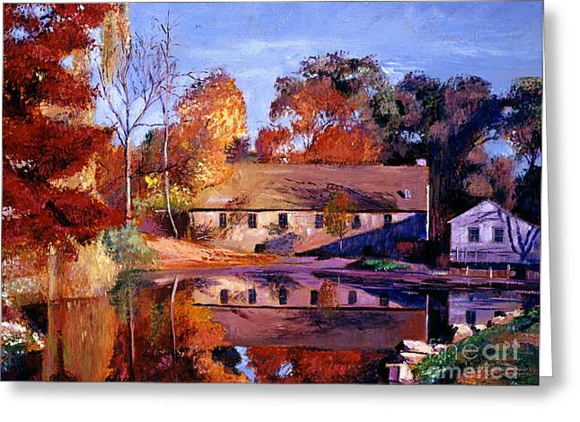 Reflections Of A Millhouse Greeting Card by David Lloyd Glover
