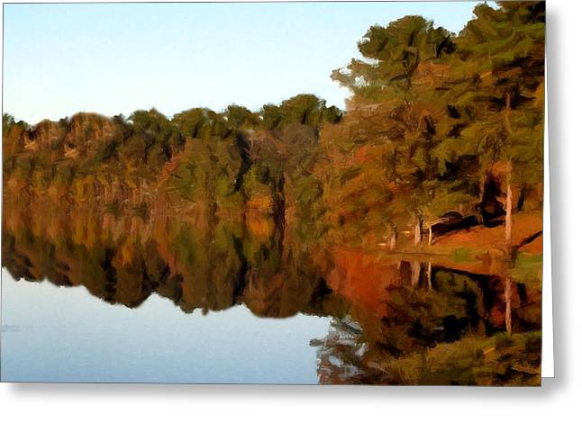 Greeting Card featuring the painting Reflections Of A Pennsylvania Autumn by David Dehner