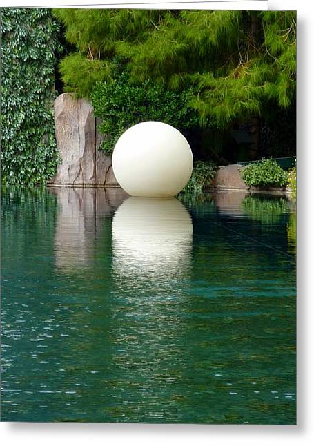 Reflections Of An Orb Greeting Card by Tim Mattox
