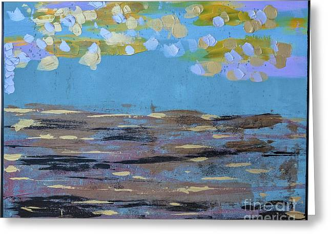 Greeting Card featuring the painting Reflections Of An Oregon Beach by Theresa Kennedy DuPay