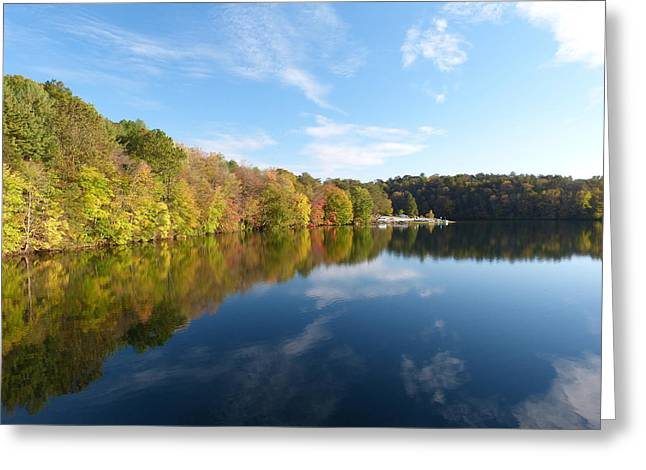 Reflections Of Autumn Greeting Card by Donald C Morgan