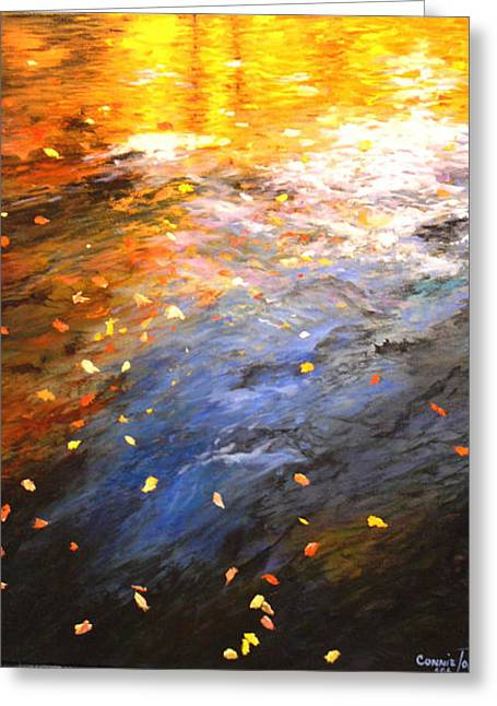 Reflections Of Autumn II Greeting Card by Connie Tom