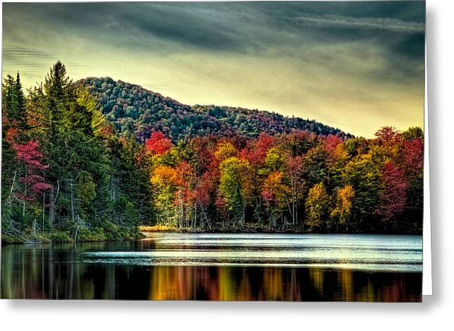 Reflections Of Autumn On West Lake Greeting Card by David Patterson