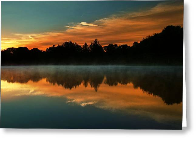 Reflections Of Beauty Greeting Card by Rob Blair