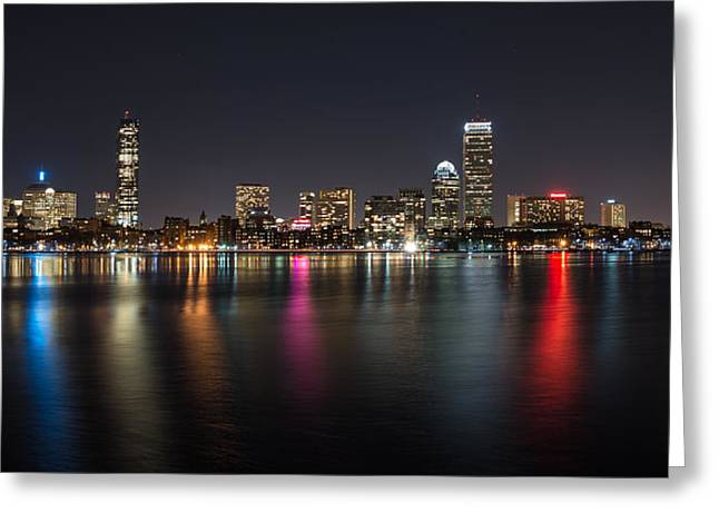 Reflections Of Boston Greeting Card