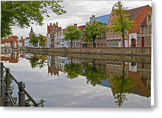 Reflections Of Brugge Greeting Card