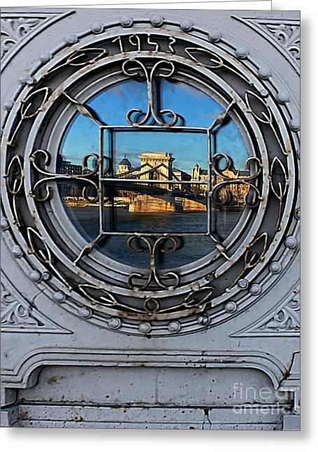 Reflections Of Budapest Greeting Card